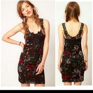 Free people dress lace floral sz XS